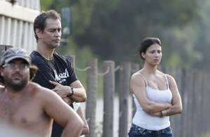 Marcello Antony e a mulher, Carolina Hollinger, sofrem acidente de carro, no Rio