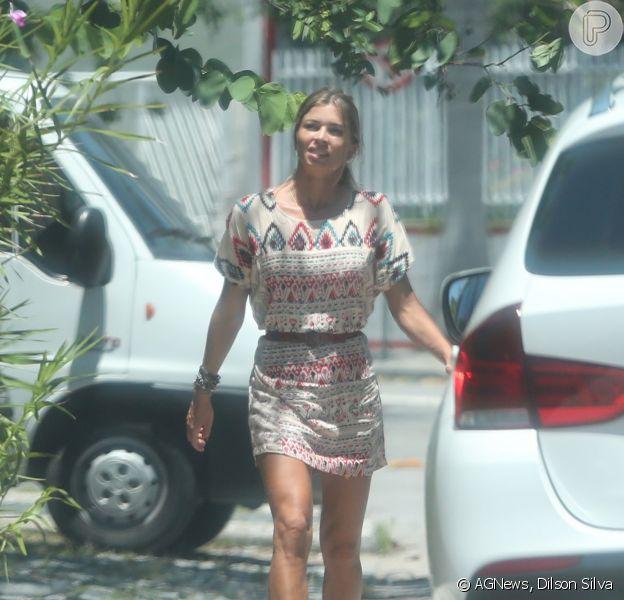 Grazi Massafera fez caminhada pela Barra da Tijuca, Zona Oeste do Rio de Janeiro, nesta quarta-feira, 7 de janeiro de 2015