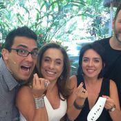 André Marques e Cissa Guimarães comem formigas no 'Mais Você': 'É gostosa!'