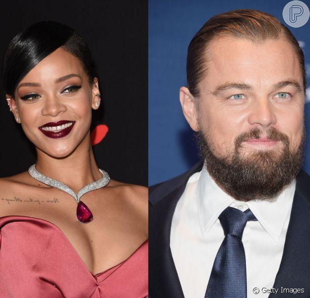 Rihanna e Leonardo DiCaprio teriam se beijado em festa nos EUA, diz site