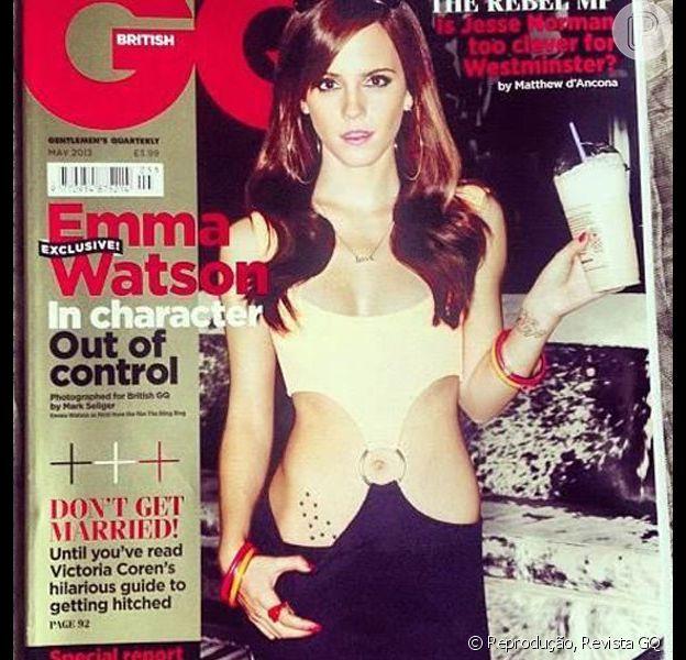 Emma Watson posa sexy para capa da revista 'GQ' em sua edição de maio de 2013