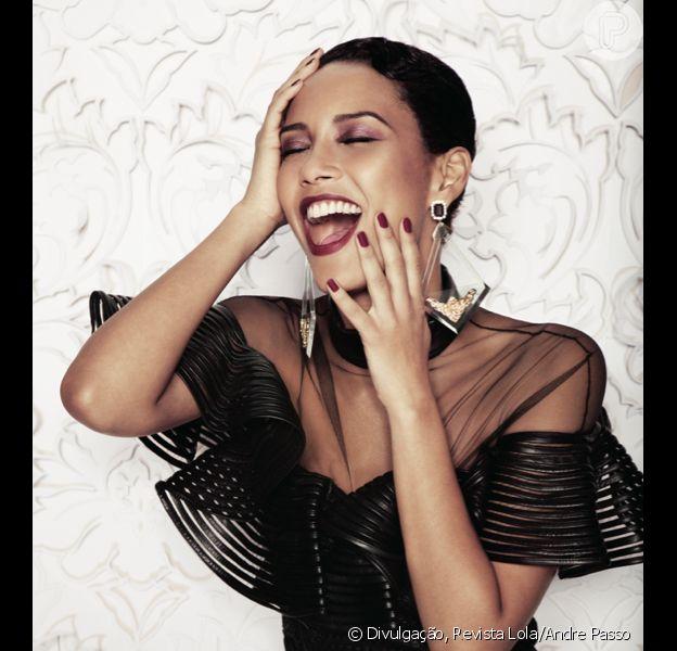 Taís Araújo é capa da revista 'Lola' do mês de abril e fala sobre casamento, ciúme e a nova parceira com Marcelo Adnet em 'O Dentista Mascarado'. A entrevista foi para Helio de La Penã, convidado para entrevistar a atriz desta edição, em 5 de março de 2013
