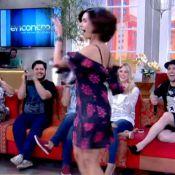 Fátima Bernardes mostra samba no pé durante o 'Encontro': 'Nova Globeleza'