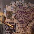 Mensagens de carinho foram deixadas no túnel onde Rafael Mascarenhas morreu