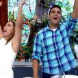 André Marques e Cissa Guimarães comemoraram o selinho que deram durante o 'Mais Você'