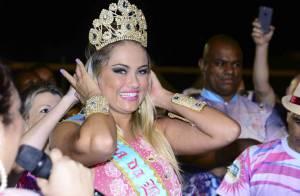 Carnaval 2015: Ellen Rocche é coroada rainha de bateria da Rosas de Ouro