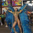 Sabrina Sato arrasou no Carnaval de 2014. Ela usou um body supercavado com transparência para representar uma Deusa da Natureza no desfile da Vila Isabel