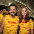 Marina Ruy Barbosa foi ao camarote celebrar o aniversário de Alexandre Nero