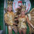 Susana Vieira e David Brazil são rainha e rei de bateria da Grande Rio