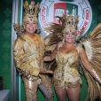 Susana Vieira e David Brazil usam fantasia coberta por 30 mil cristais Swarovski