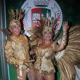 Susana Vieira posa com David Brazil antes de desfile da Grande Rio