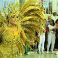 Susana Vieira representa Dama de Ouro no desfile da Grande Rio na Sapucaí