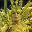 Susana Vieira é rainha de bateria da Grande Rio