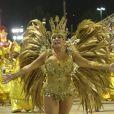 Susana Vieira foi rainha de bateria da Grande Rio, em 16 de fevereiro de 2015