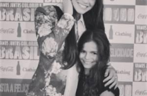 Bruna Marquezine publica foto com a irmã, Luana: 'Minha princesinha'