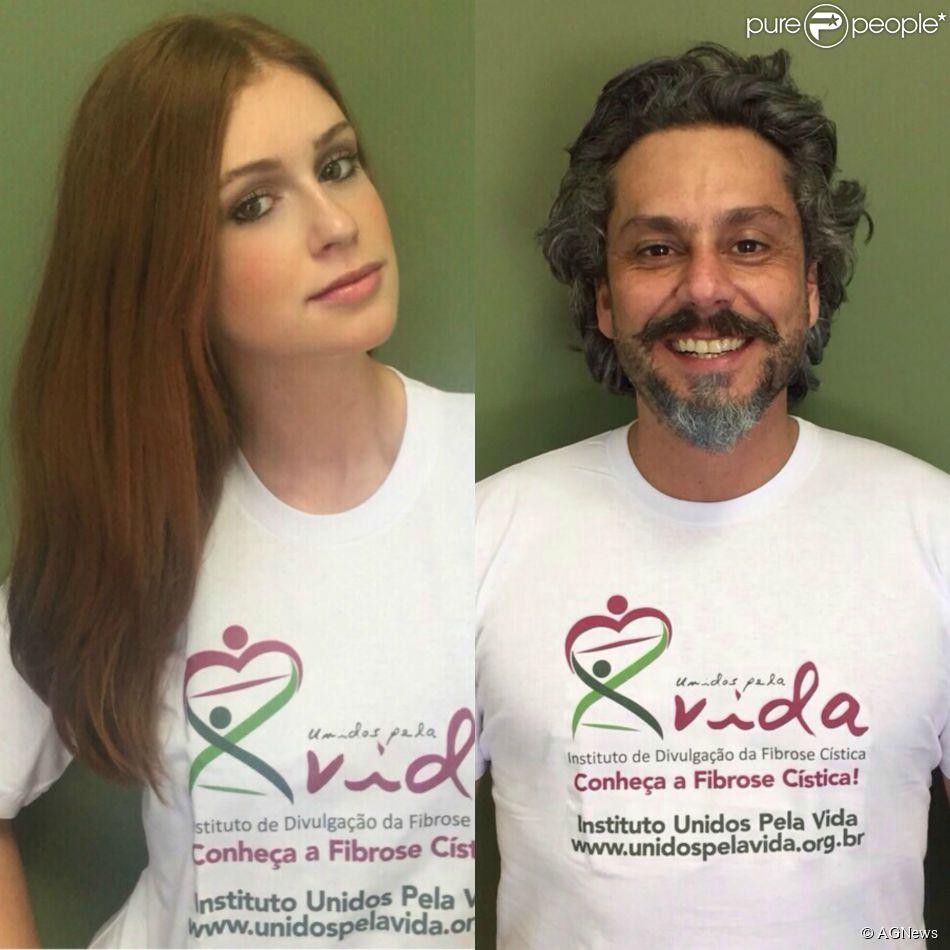 Marina Ruy Barbosa e Alexandre Nero posaram para campanha do Instituto Unidos pela Vida