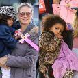 Lou, filha da top Heidi Klum, também já aderiu ao animal print. Fofura esse casaquinho!