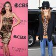 A modelo Miranda Kerr aposta no animal print em peças sociais e casuais