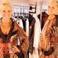 Xuxa optou pela estampa animal print com transparência para gravar o seu especial de 50 anos no programa 'TV Xuxa'