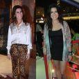 Fernanda Paes Leme aposta no animal print tanto para looks mais formais quanto para os mais casuais