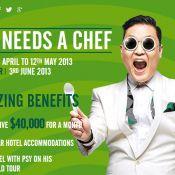 Sul-coreano Psy pagará R$ 80 mil a chef de cozinha para sua turnê