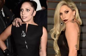 Lady Gaga escurece o cabelo e vai a desfile de moda em Paris com novo visual