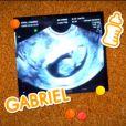 Fernanda Gentil está grávida de 11 semanas do primeiro filho, Gabriel, fruto de seu casamento com Matheus Braga