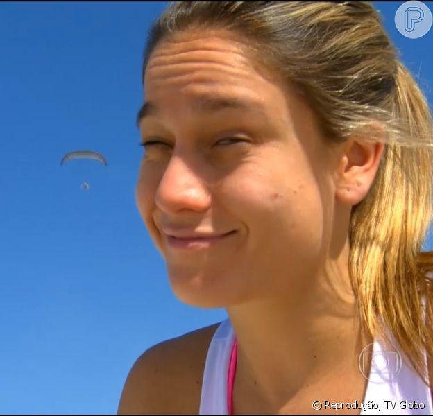 Fernanda Gentil ganhou 2,9kg em 11 semanas de gestação e contou rotina dos primeiros meses de gravidez no 'Esporte Espetacular', em 8 de março de 2015