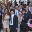 Elenco de 'Império' se reuniu para gravar cenas do casamento de  Cristina (Leandra Leal) e Vicente (Rafael Cardoso), na reta final da novela 'Império'