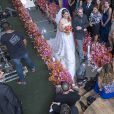 Elenco de 'Império' gravou cenas do casamento de Cristina (Leandra Leal) e Vicente (Rafael Cardoso)