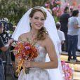 Leandra Leal usou tomara que caia para gravar cenas do casamento de sua personagem, Cristina, na novela 'Império'