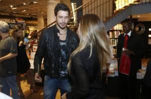 Cleo Pires reencontra ex-marido, João Vicente, em lançamento de DVD do padrasto
