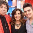 Cauby Peixoto conheceu Luan Santana quando participou do 'Encontro com Fátima Bernardes'