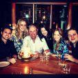 Ticiane Pinheiro comemorou com Roberto Justus e a família