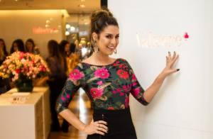 Fernanda Paes Leme usa look elegante para lançamento de coleção em SP: 'Linda'