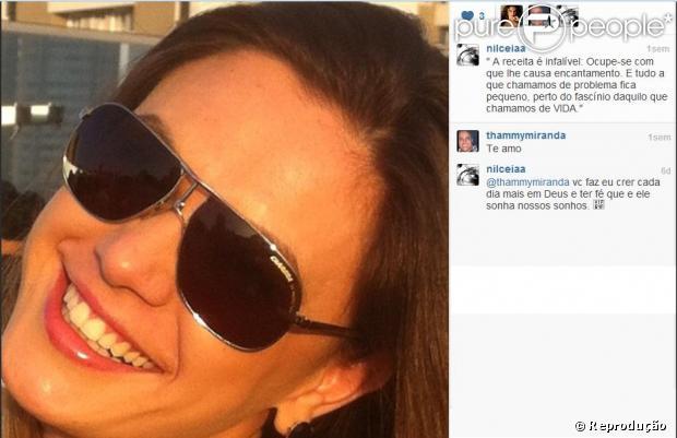 Thammy Miranda e Nilceia Oliveira trocam declarações de amor no Instagram no dia 25 de abril de
