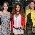 Mariza Marchetti com Cinara Leal e Gisele Alves em festa de 'Flor do Caribe'