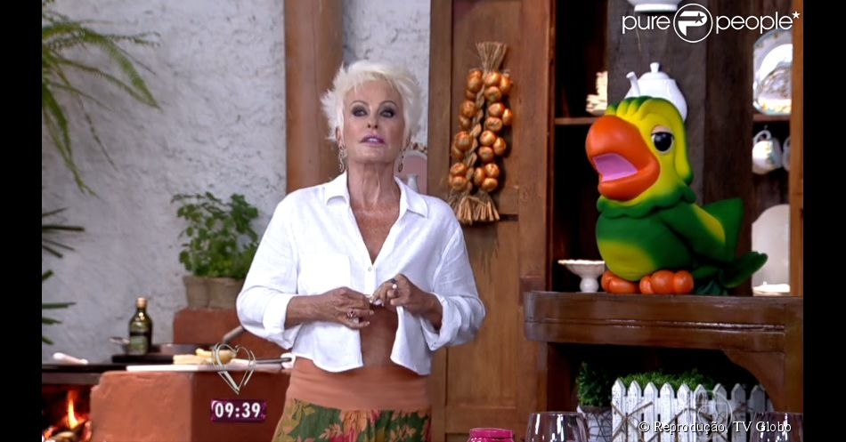 Ana Maria Braga troca de roupa ao vivo no 'Mais Você': 'A saia virou macacão'