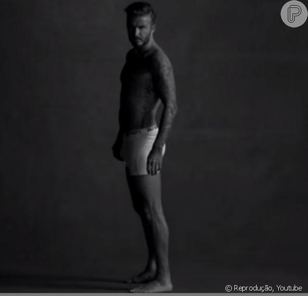 David Beckham ficou só de cueca para gravar brincadeira do programa 'The Late Late Show with James Corden'