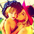 No dia do aniversário de 5 anos de Noah, Danielle Winits postou uma foto com a tag #amorparavidainteira