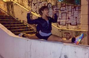 Sabrina Sato prova que tem elasticidade e posa de pernas abertas ao se exercitar