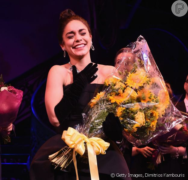Conhecida por seu papel em 'High School Musical', a atriz Vanessa Hudgens fez sua estreia em um musical da Broadway, na última quarta-feira, 8 de abril de 2015
