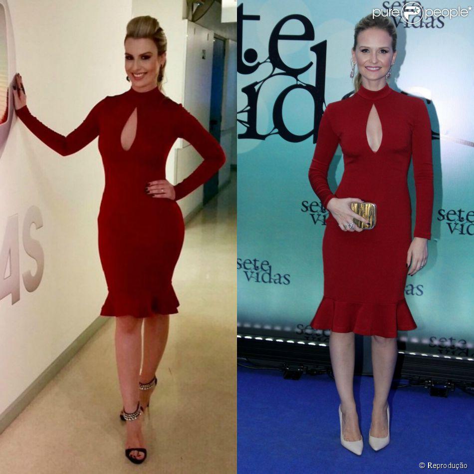 Fernanda Keulla apareceu com vestido Alphorria igual ao usado em fevereiro por Fernanda Rodrigues na festa de lançamento da novela 'Sete Vidas'. A foto foi compartilhada pela ex-BBB nesta sexta-feira, 17 de abril de 2015
