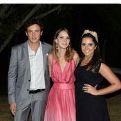 Nathalia Dill vai acompanhada do namorado, Sergio Guizé, ao casamento do irmão