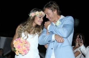 Theo Becker se casa com médica em cerimônia de R$ 300 mil na praia. Veja fotos!