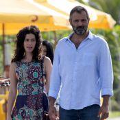 Maria Flor e Domingos Montagner gravam novela 'Sete Vidas' em praia do Rio