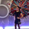 Lívian Aragão esteve presente na festa de 50 anos da Globo