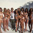 A russa posou ao lado de outras modelos da Victoria's Secret para as lentes de Michael Bay, diretor de filmes como 'Transformers' e 'As Tartarugas Ninjas'