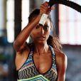 A top model já fez ginástica por dez anos e também curte vôlei e softball