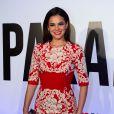 A atriz também investiu no look para o prêmio 'Veja Cariocas do Ano 2014'. A produção Carolina Herrera valia R$ 15 mil